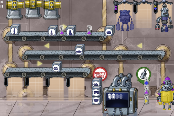 Robot factory mini-game